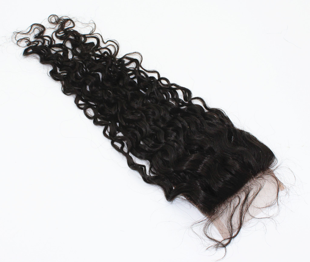 Curly lace closures