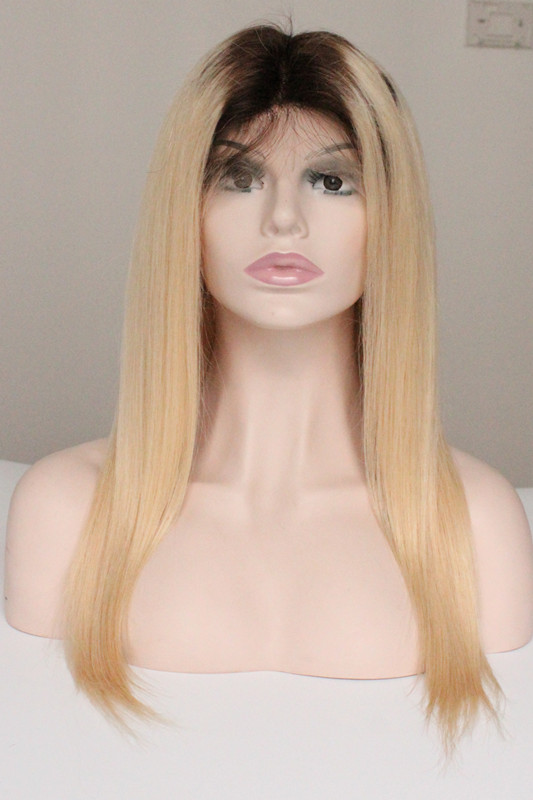 Russian Hair Ombre2/22# Straight Wig