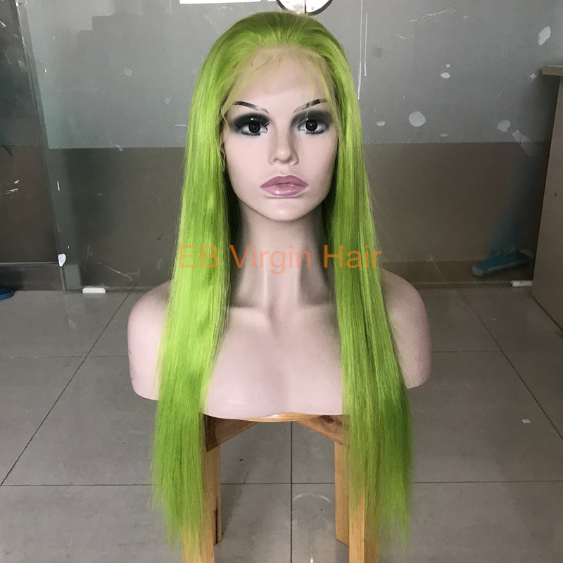 Green Virgin Hair Wig